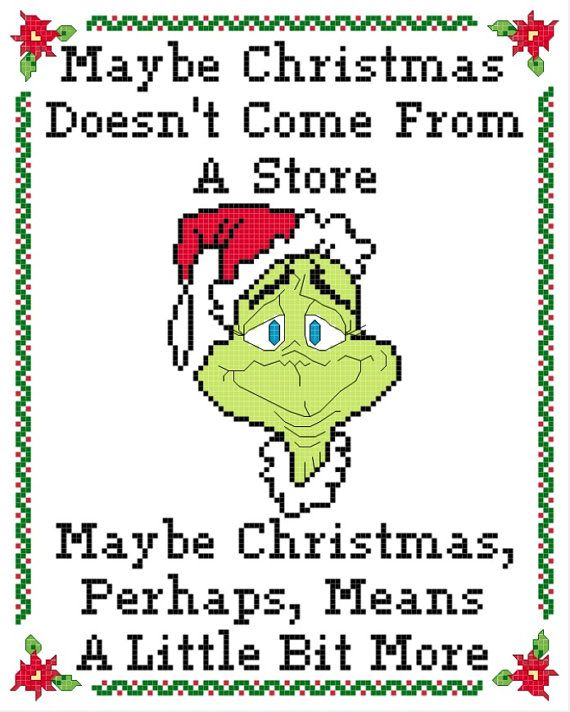 Green Christmas Thief Redemption Cross Stitch PATTERN | Totoro ...