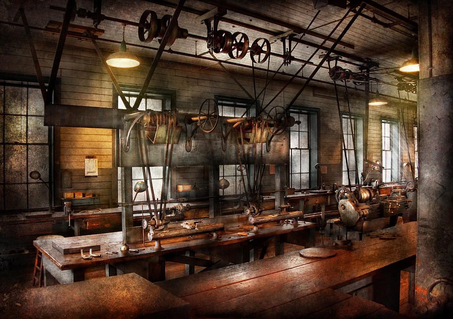 Steampunk The Workshop Photograph Steampunk The