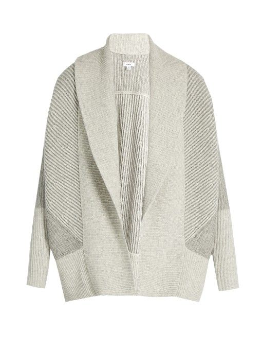 Vince Shawl-collar wool and cashmere-blend cardigan | knits ...