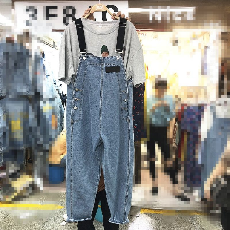 high Waist Jeans Trousers Clothes Cowboys Frayed Vintage Jumpsuits Loose