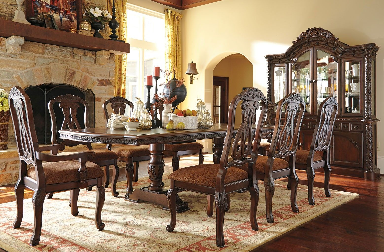 North Shore Pedestal Dining Room Set Formal Dining Room Sets Rectangular Dining Room Table Dining Furniture