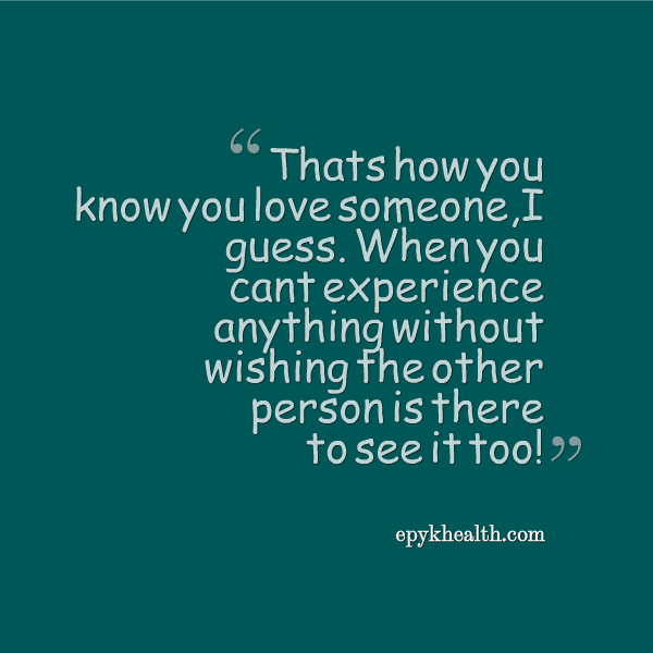 How Do Know You Love Someone