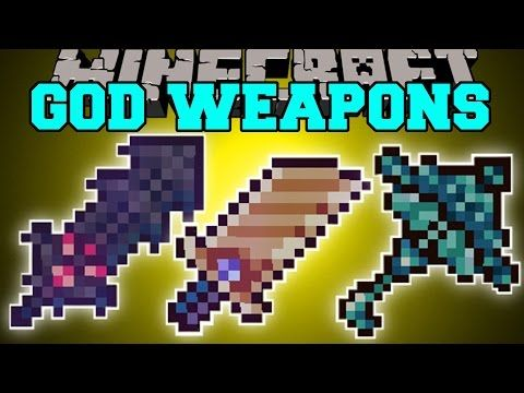 Minecraft: GOD WEAPONS MOD (POWERFUL SWORDS & ARMOR WITH ABILITIES