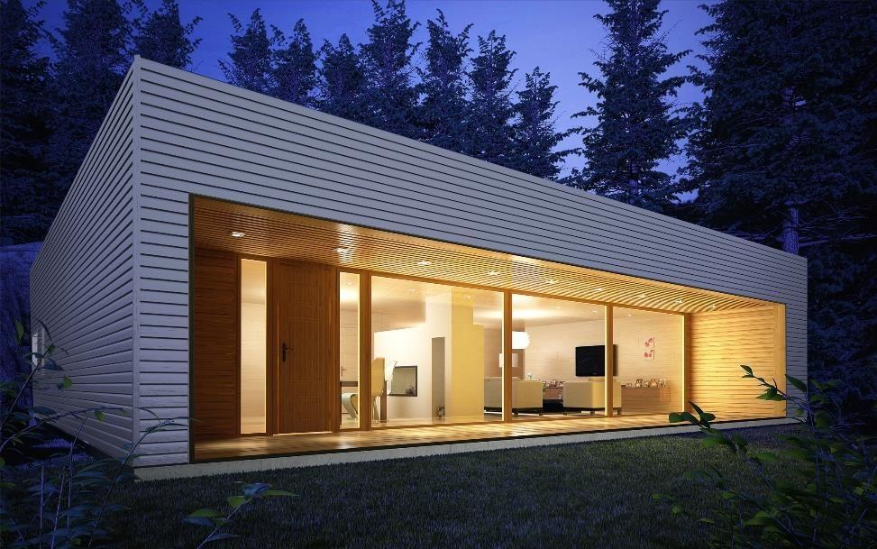 Moderna 150 m2 casas de entramado ligero donacasa for Casa moderna 60 m2