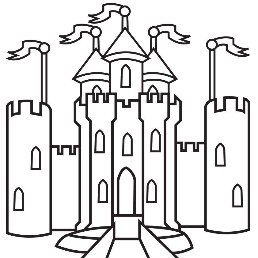 Раскраски замок распечатать