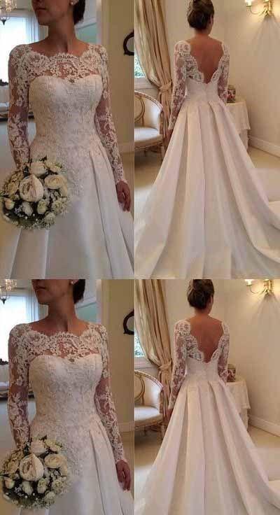 39 Cheap Unique Wedding Dresses On A Budget Dress Ivory Lace Wedding Dress Wedding Dress Long Sleeve Applique Wedding Dress