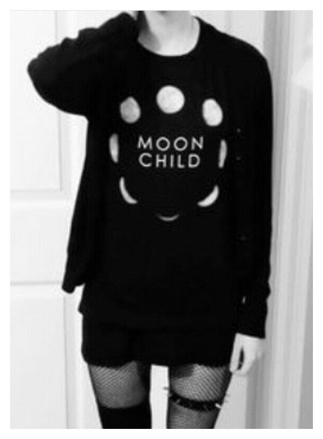 """""""moon child"""" by gothiclothes ❤ liked on Polyvore"""