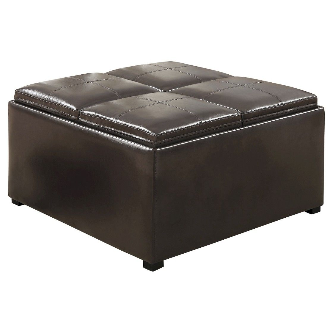 35 franklin square coffee table storage ottoman tanners