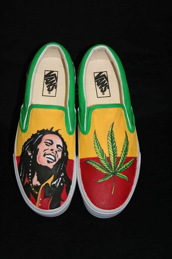 Got my VANS on, but they look like sneakers. lol Bob Marley