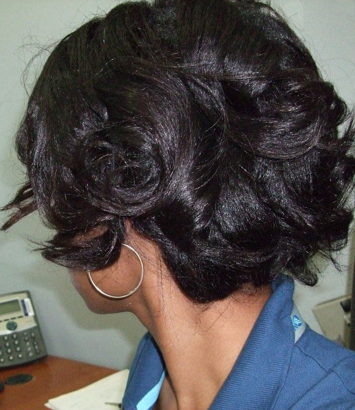 Roller Setting Relaxed Hair who rollersets 2x's or more