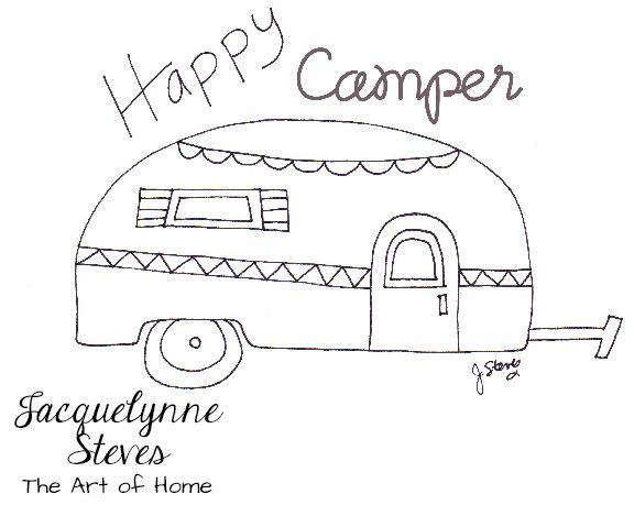 Happy Camper Drawing