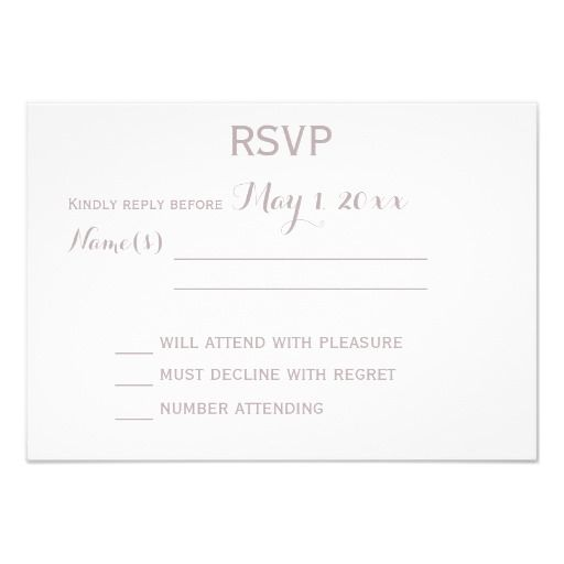 Monogram Elegant Grey Wedding RSVP Cards Swans