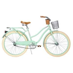 Deluxe 26 Ladies Cruiser Bike With Basket And Beverage Holder
