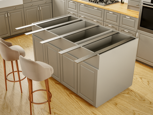 Hidden Countertop Brackets Provide The Structural Support Your