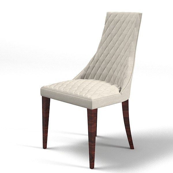 Contemporary Dining Chairs White Leather Fabric Contemporary Dining Chairs With Dark Brown Wooden Legs White Bac Contemporary Dining Chairs Dining Chairs Chair