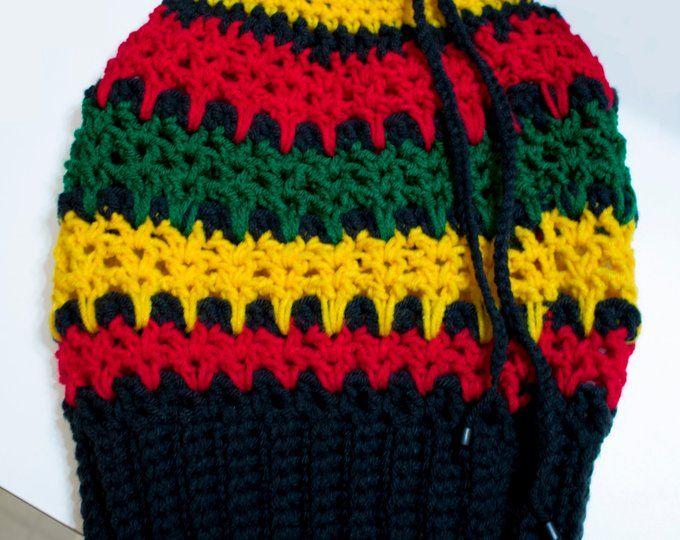 Ila Dread Nett Unisex Crochet Rasta Tam One Colour S Xl Dreadlock