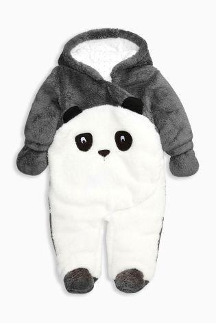Mamelucos del bebé recién nacido de Invierno Panda ropa Del Bebé Del Mono  de algodón vellón traje Niña traje animal de Los Mamelucos 66 c65a815ca78