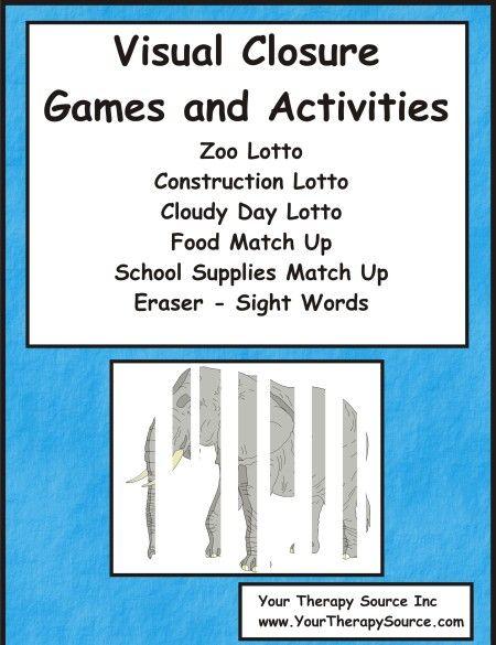 Visual Closure Games And Activities Ot Materials