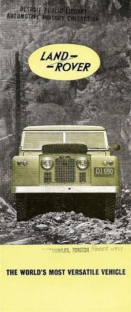 Land Rover Badge And Brochures Voiture Auto 4 Roues