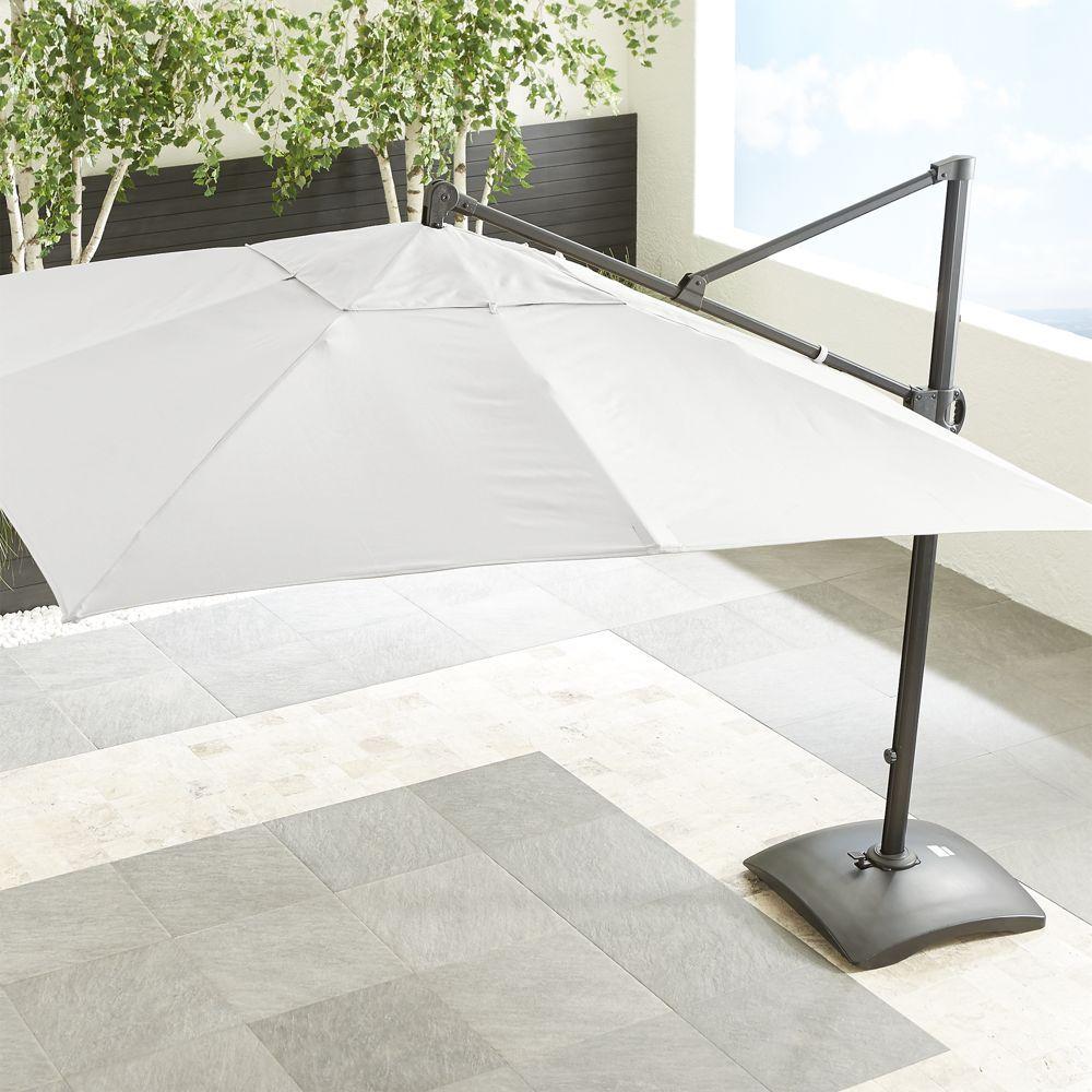 10u0027 Sunbrella ® White Sand Square Cantilever Umbrella