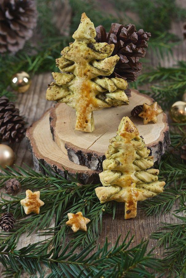 Pesto Weihnachtsbaum - vegetarische Vorspeise - Sweets & Lifestyle