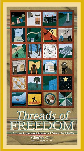 Threads Of Freedom The Underground Railroad Story In Quilts Underground Railroad Quilts African American Quilts Freedom Quilt