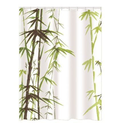 Amazon Com Green Asparagus Bamboo Waterproof Shower Curtain