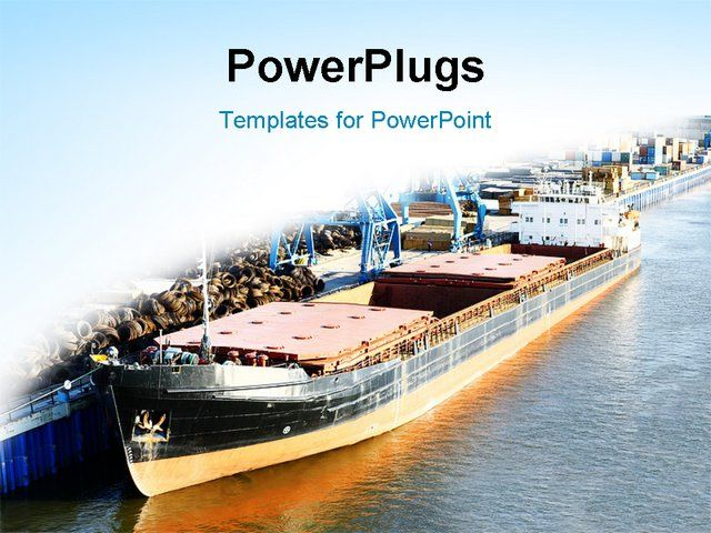 Powerpoint template displaying sea ship at the port on a white and powerpoint template displaying sea ship at the port on a white and blue background toneelgroepblik Image collections