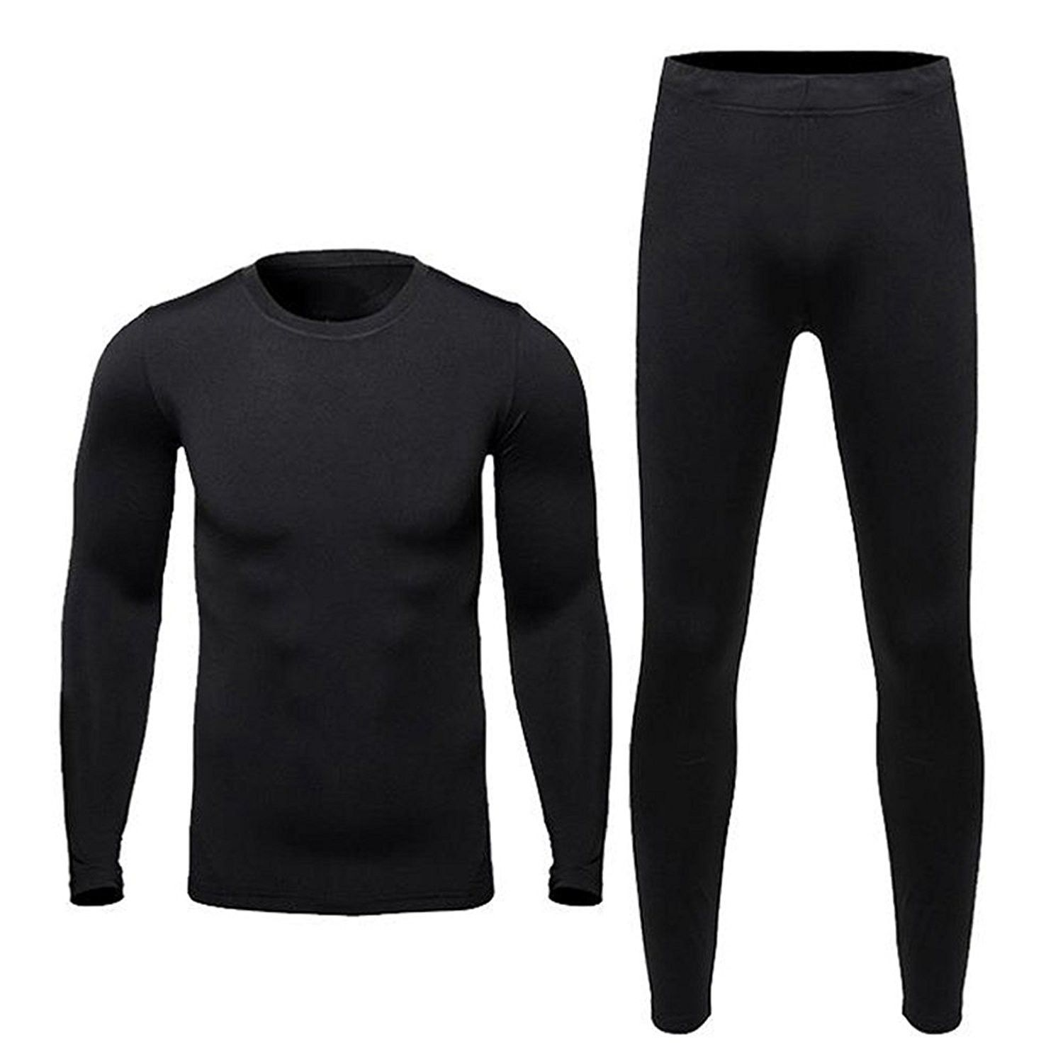 Men Compression Thermal Base Layer Tight Jersey T-Shirt Tops Long Pants Trousers