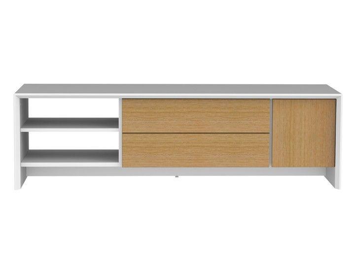 Hifi möbel eiche  SMYKK #TV #Möbel #Wohnzimmer #Lowboard 150 #Eiche & #Weiß ...