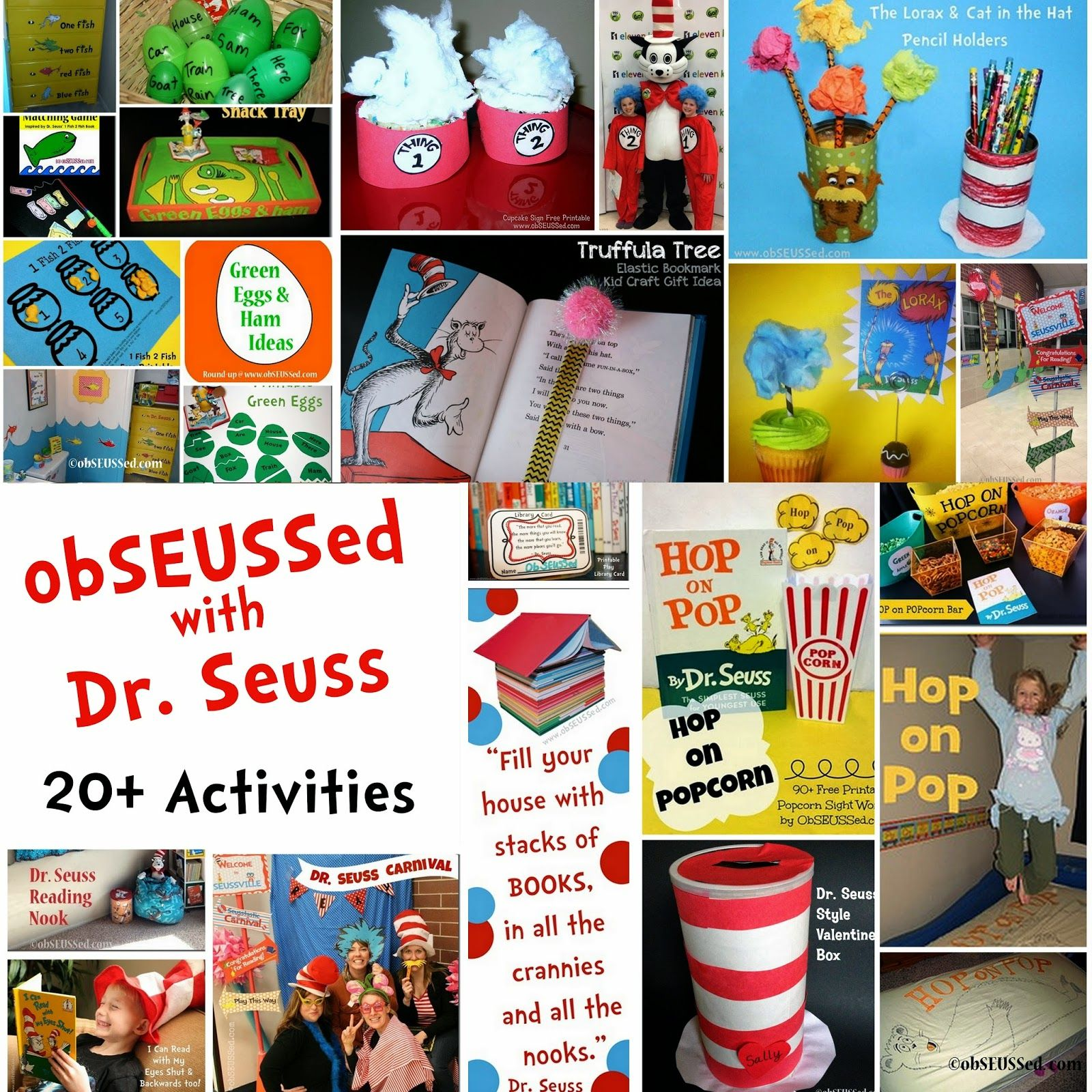 Dr Seuss Crafts Activities And Party Ideas By