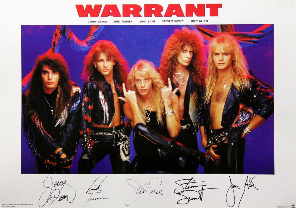 Warrant 1990 Cherry Pie Japan Promo Poster Plate Printed