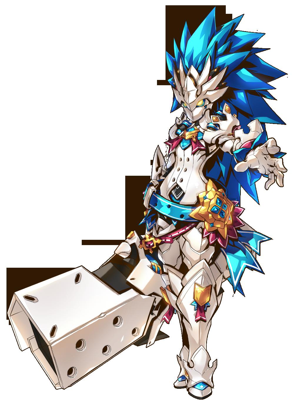 Chung Iron Paladin Berserk Mode After 1st Job Class Fury Guardian Elsword Game Character Design Character Art