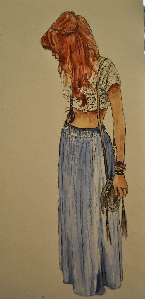 maxi skirt . bohemian