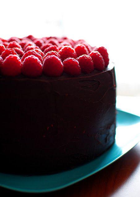 Astonishing Nooshs Dark Chocolate Raspberry Birthday Cake Raspberry Cake Personalised Birthday Cards Arneslily Jamesorg