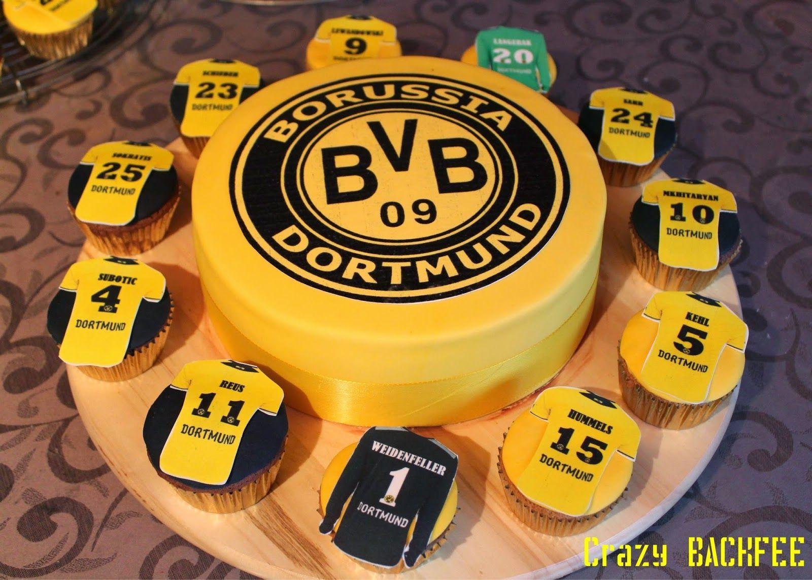 Crazy BackNo BVB Torte und Cupcakes  torten  Bvb torte