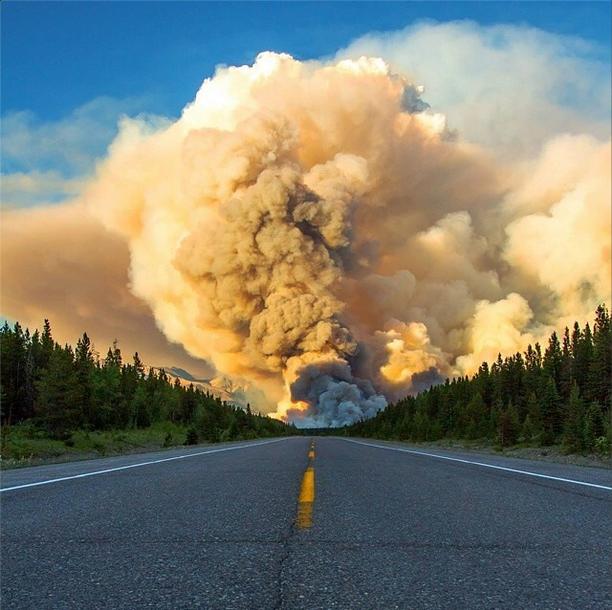 Wildfire in Banff, Canada (Photo by Amanda Richter)