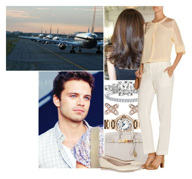 """""""Leaving for Rome with Michael"""" by princess-katharina ❤ liked on Polyvore featuring Hermès, Tamara Mellon and Chloé"""
