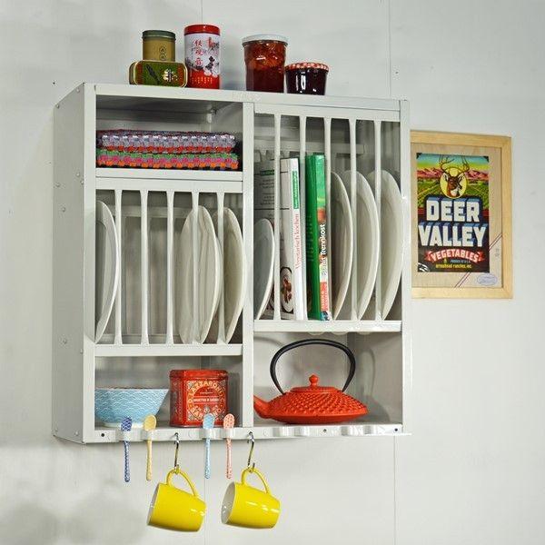 Küchenregal rostfrei hellgrau praktisch und vintage - kitchen rack ...