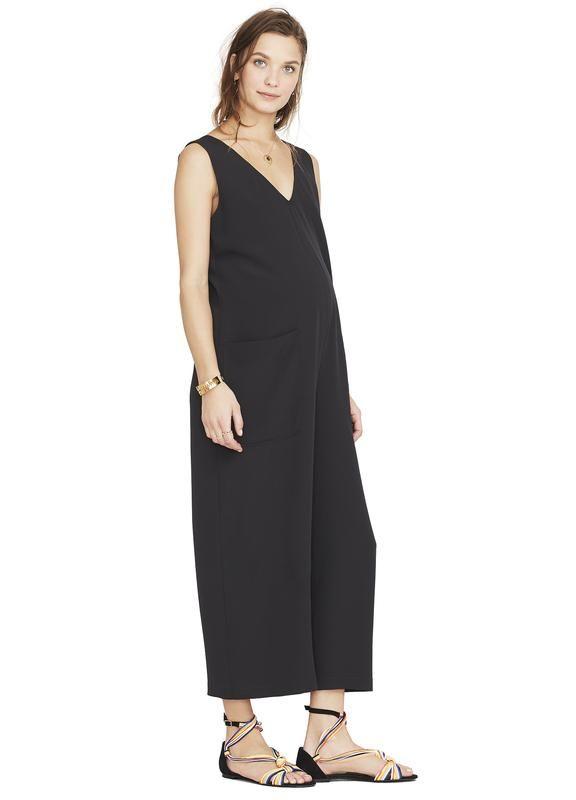 Color Black Maternity Jumpsuit Fashion Jumpsuit
