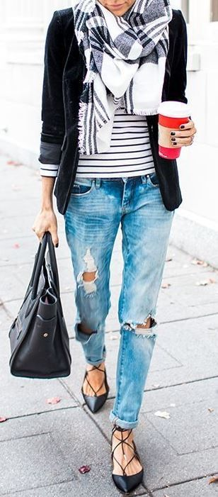 bcd61099 10 Super Chic Ways To Wear Boyfriend Jeans | My Looks | Fashion ...