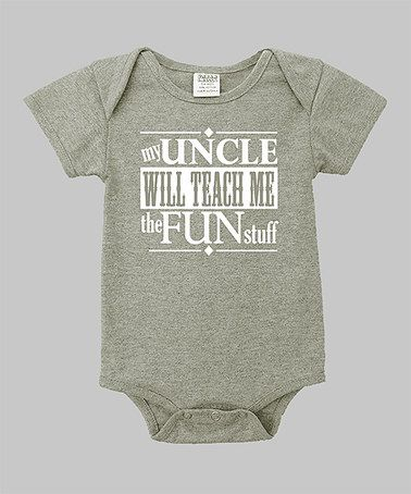 21be60b47 Another great find on  zulily! Heather Gray  My Uncle  Bodysuit ...