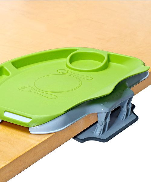 Help little one develop big kid habits early on with the two-in-one Tidy Table and Flexi-Diner system that brings Baby right up to the table alongside Mom and Dad. The easy, BPA-free tray clips easily onto most dining tables, allowing kids to scoot right up, while its ergonomically designed flexible lip molds against bitty bodies to catch those foods and liquids that often spill down during meal times. The interactive insert features easy to understand dedicated ...