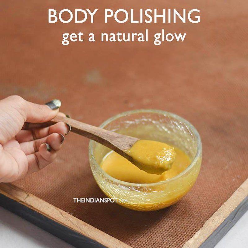 Body polishing Rice flour Has great skin exfoliating