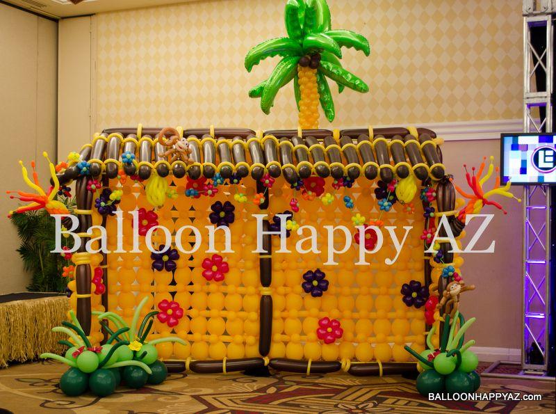 Hut Balloon Tiki Hut Hawaiian Luau Decorations Inspiration