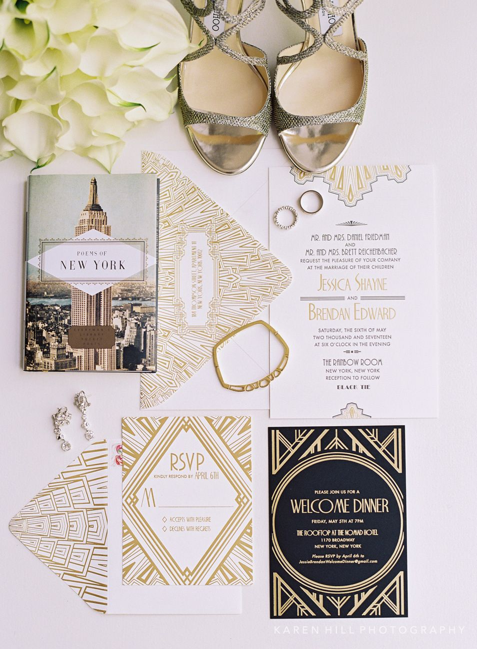 Art Deco Inspired wedding invitations by Atelier Isabey for a ...