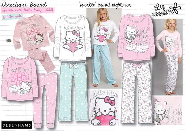 Girls 2 Pack Sparkle Unicorn Rainbow Nighties Pyjamas