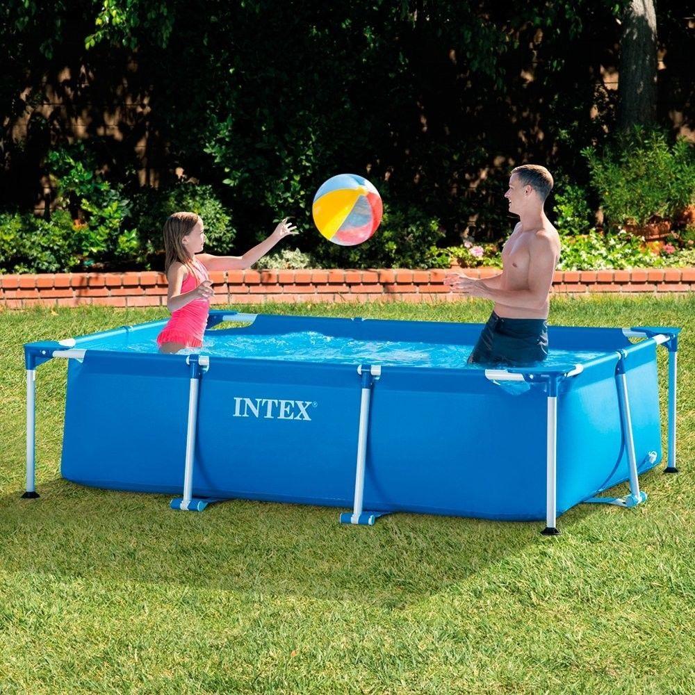 Family Schwimmbad Schwimmbecken Intex Neu Rechteck Frame Pool 260 x ...