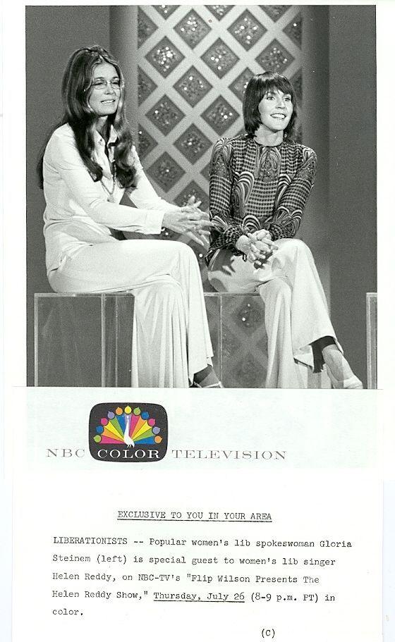 HELEN REDDY GLORIA STEINEM THE HELEN REDDY SHOW ORIGINAL 1973 NBC TV PHOTO in | eBay