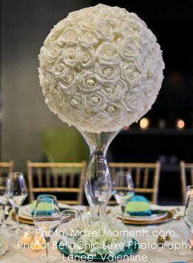 Real Feel Flower Ball Foam Rose Pomander Kissing Ball 8 3 4 White Flower Ball Centerpiece Flower Ball Foam Roses